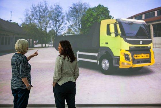 """""""Volvo trucks"""" nuotr./Naudojant 3D vizualizacijas jau ankstyvoje stadijoje galima pamatyti, kaip sunkvežimis atrodys natūralioje savo darbo aplinkoje"""