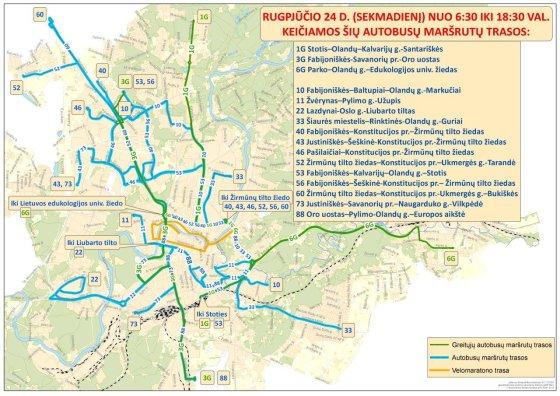 Pakeistos kai kurių autobusų maršrutų trasos