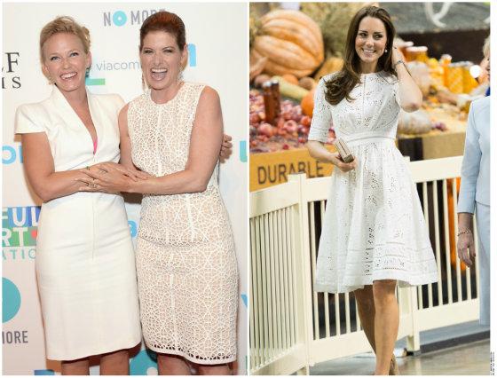 """""""Scanpix"""" nuotr./Iš kairės: Kelli Giddish, Debra Messing ir Kate Middleton"""
