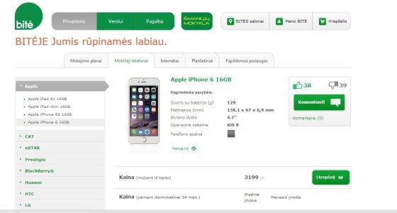 Bitėje iPhone 6