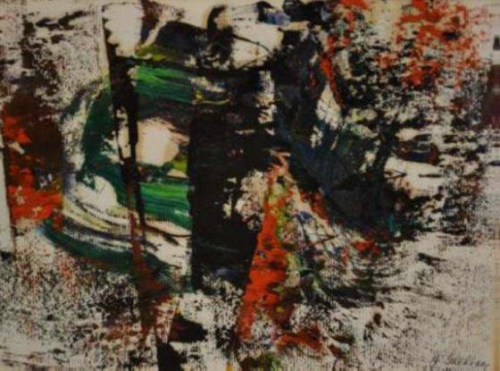 Adomo Galdiko abstrakčiojo impresionizmo tapybos darbas
