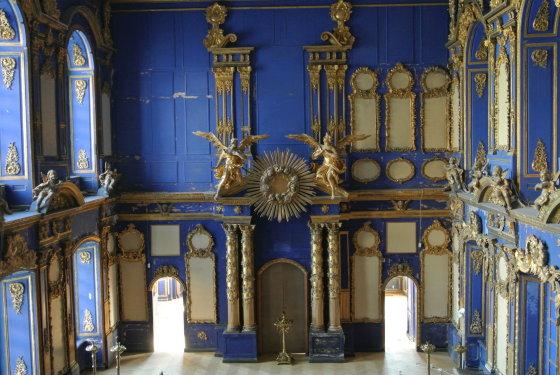 15min.lt/Violetos Grigaliūnaitės nuotr./Nerenovuota cerkvė Carų rūmuose Carskoje selo