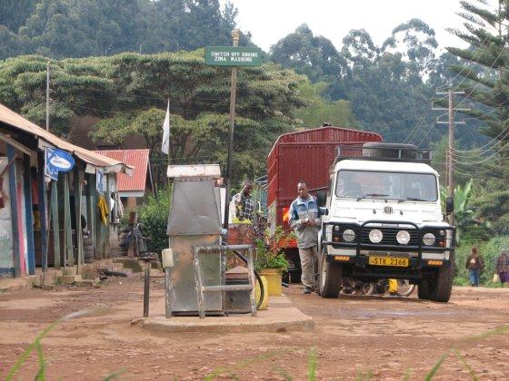 E.Visakavičiaus nuotr./Degalinė Tanzanijoje