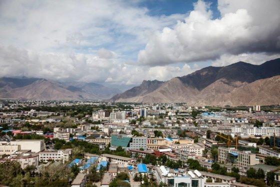 Be sienų nuotr./TIbeto sostinė Lasa iš viršaus