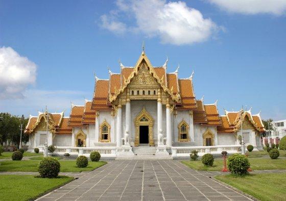 Novaturo nuotr./Marmurinė šventykla Bankoke