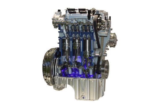 """Ford"" nuotr./1,0 litro ""EcoBoost"" variklio pjūvis"
