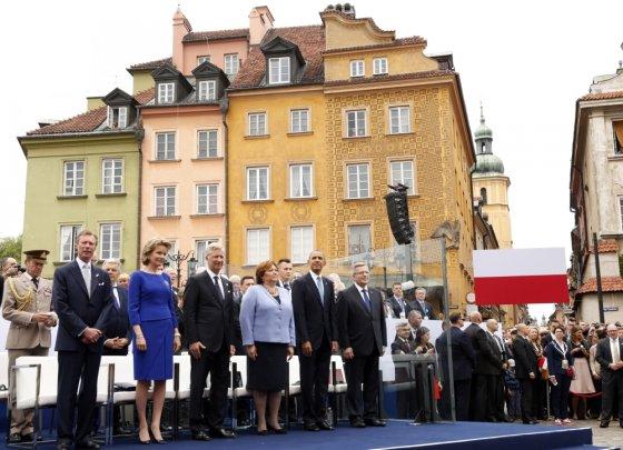 """""""Reuters""""/""""Scanpix"""" nuotr./Barackas Obama Varšuvoje"""