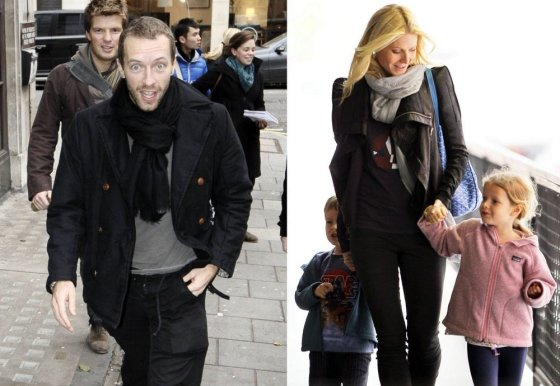 """""""Scanpix"""" nuotr./Muzikantas Chrisas Martinas ir aktorė Gwyneth Paltrow - 8 metai ir 2 vaikai"""