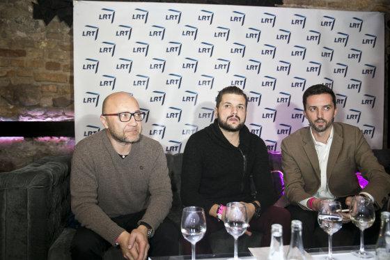 """Viganto Ovadnevo/Žmonės.lt nuotr./2015-ųjų """"Eurovizijos"""" pristatymo vakarėlis"""