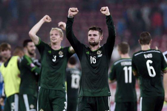 """AFP/""""Scanpix"""" nuotr./Šiaurės Airijos futbolininkai"""