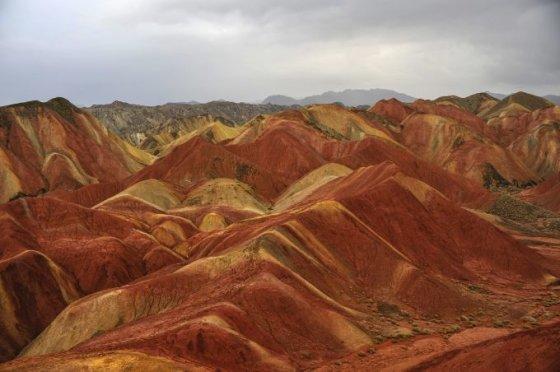Fotolia nuotr./Danxia kraštovaizdis, Gansu, Kinija