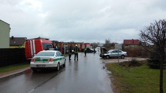 L. Sėlenienės nuotr./Avarija šalia Klaipėdos, Gindulių kaime