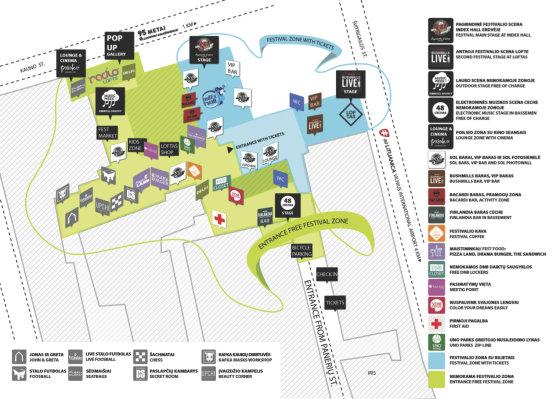 """""""Loftas Fest"""" žemėlapis / Festivalio organizatorių nuotr,"""