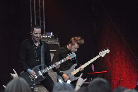 """""""Shining"""" pasirodymas / Sunkosios muzikos festivalis """"Velnio akmuo 2014"""" / Pauliaus Krampo nuotr."""