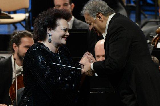 Martyno Aleksos/LNOBT nuotr./Operos solistė Violeta Urmana ir dirigentas Zubinas Mehta