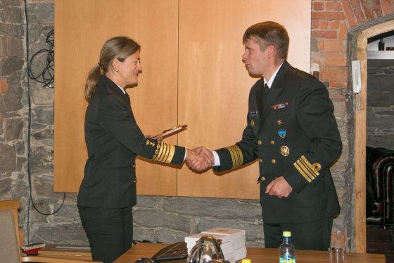 Michailo Karpuzovo nuotr./Lietuvos karininko vadovaujamas NATO laivų junginys lankėsi Norvegijoje