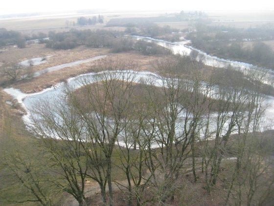 Panorama nuo apžvalgos bokšto Krekenavoje