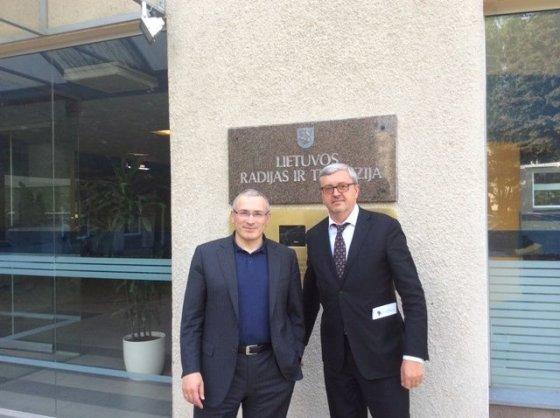 LRT nuotr./Michailas Chodorkovskis ir Audrius Siaurusevičius