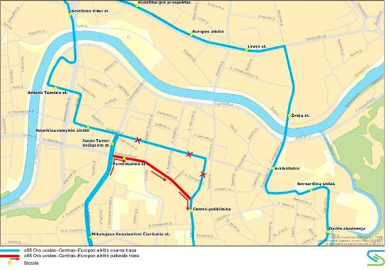 Pakeisti Vilniaus autobusų maršrutai.