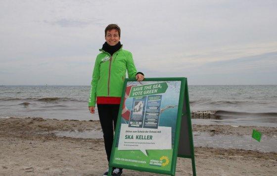 Prie Europos žaliųjų partijų narių organizuojamų Baltijos jūros apsaugai skirtų plaukimo renginių prisijungė ir kandidatė į Europos Komisijos prezidentus Ska Keller.