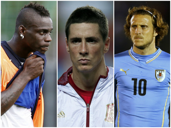 """Scanpix"" nuotr./Iš kairės: Mario Balotelli, Fernando Torresas ir Diego Forlanas."