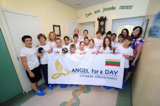 """Pagrindinis projekto """"Angelas vienai dienai"""" siekis — užtikrinti vaikų gerovę"""