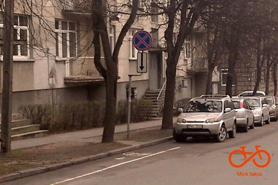 Dviračių takas M. Valančiaus gatvėje