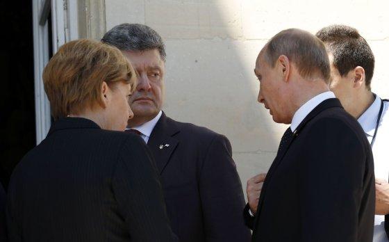 """""""Reuters""""/""""Scanpix"""" nuotr./P.Porošenko ir V.Putinas"""