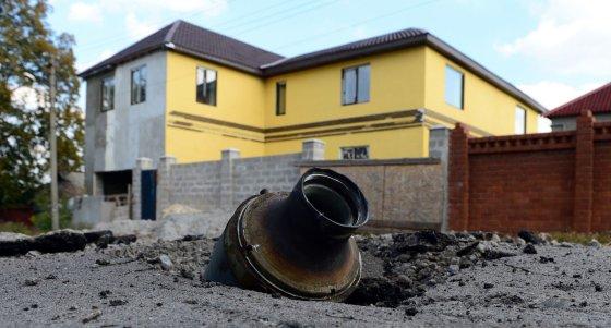 """AFP/""""Scanpix"""" nuotr./Raketa Rytų Ukrainoje"""
