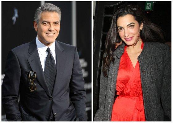 """Scanpix""/""Sipapress"" ir AOP nuotr./George'as Clooney ir Amal Alamuddin"