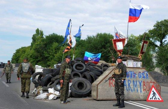 """AFP/""""Scanpix"""" nuotr./Teroristai Donecke"""