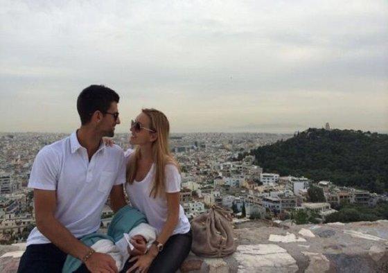 Novako Džokovičiaus twitter nuotr./Novakas Džokovičius ir Jelena Ristič