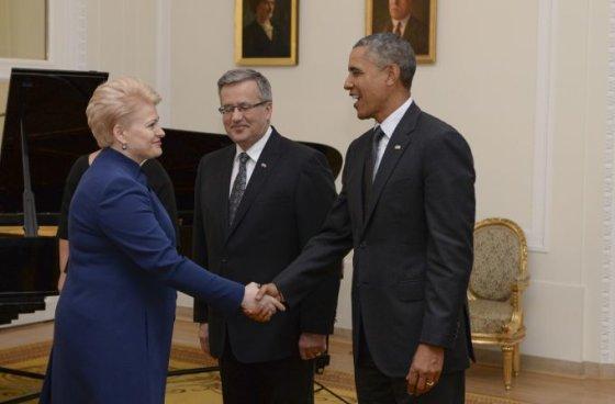 Roberto Dačkaus/president.lt nuotr/D.Grybauskaitė ir B.Obama