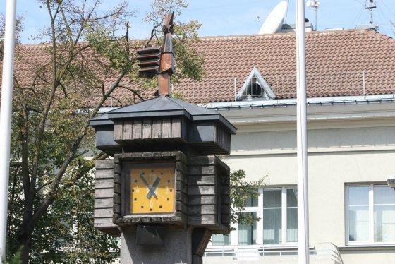 """Alvydo Januševičiaus nuotr./""""Gaidžio"""" laikrodis"""