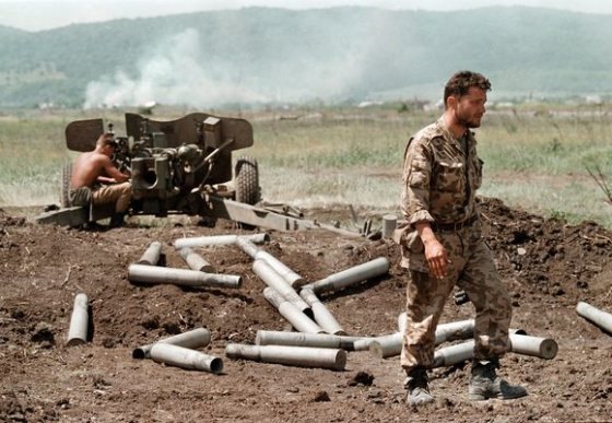 """AFP/""""Scanpix"""" nuotr./Rusijos kariai Čečėnijoje"""