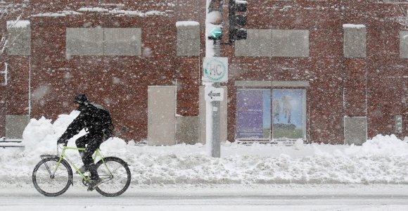 Važiuoti dviračiu galima ir esant 30 laipsnių šalčio
