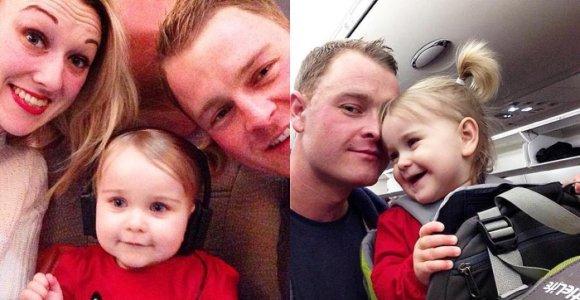 Į kelionę per tris žemynus tėvai leidosi kartu su kelių mėnesių dukra