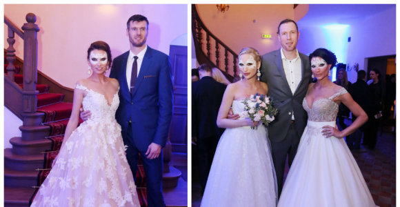 Tatjana Lavrinovič ir Gintarė Songailė antrąkart tapo nuotakomis, jų vyrai krepšininkai liko sužavėti