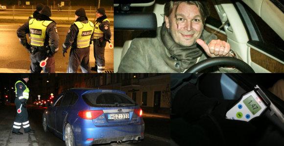 Reidas Vilniuje: 5 girtuokliai prie vairo, dramatiškos BMW gaudynės ir sustabdytas K.Verslovas