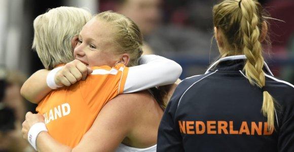 Rusijos tenisininkių sensacingas pralaimėjimas pažymėtas rekordu