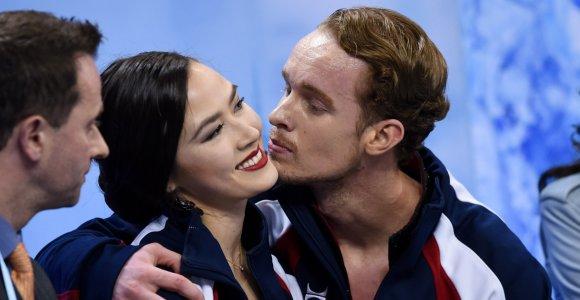 Deivido Stagniūno sužadėtinė Madison Chock pirmauja pasaulio čempionate, amerikiečiai laukia triumfo