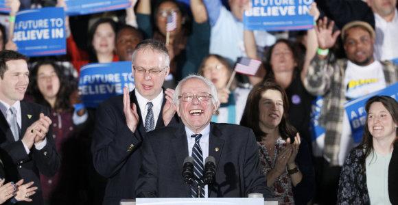 Rinkimai JAV: Bernie Sandersas sutriuškino Hillary Clinton ir pateko į istoriją