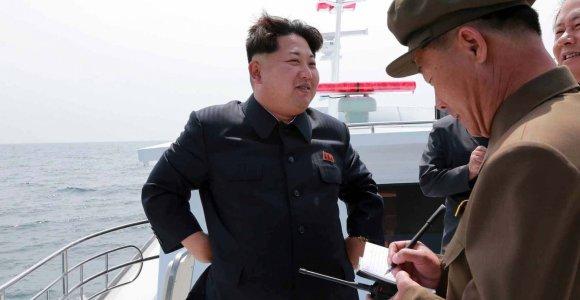 Šiaurės Korėjos propaganda suklastojo raketų bandymus