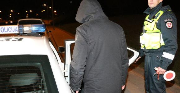 Lentvaryje policijos sustabdyto BMW keleivis narkotikus slėpė trumpikėse