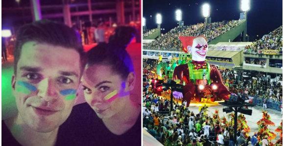 """Jonas ir Simona Nainiai – Rio De Žaneiro karnavalo sūkuryje: """"Kostiumai, energija, užpakaliukai"""""""