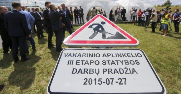 Startuoja Vilniaus vakarinio aplinkkelio III etapo statybos: kelias į Kauną susijungs su Ukmergės plentu