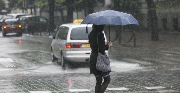 Orai.lt: smarkiausi lietūs – antradienį