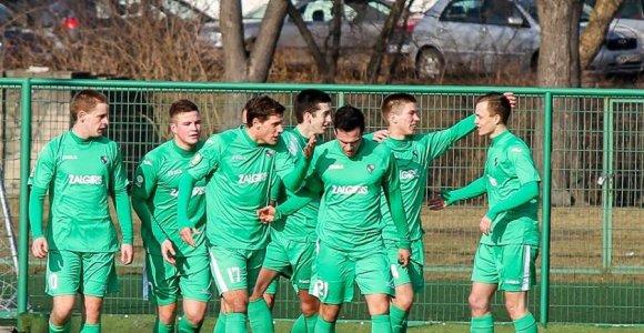 """""""Kauno Žalgirio"""" futbolininkai kontrolinį mačą pralaimėjo Kazlų Rūdos """"Šilo"""" komandai"""