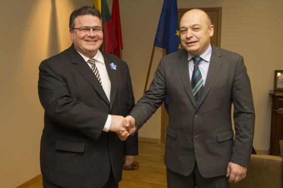 URM nuotr./Linas Linkevičius ir Kęstutis Lančinskas, paskirtas naujuoju Europos Sąjungos patariamosios misijos Ukrainoje vadovu.