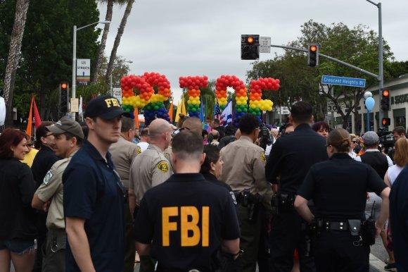 """AFP/""""Scanpix"""" nuotr./Homoseksualų eitynės Los Andžele"""